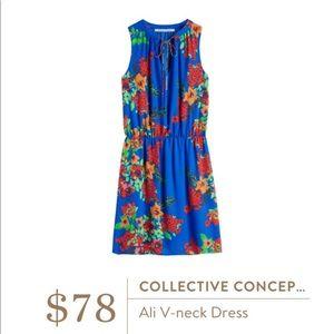Collective Concepts Blue Floral Dress
